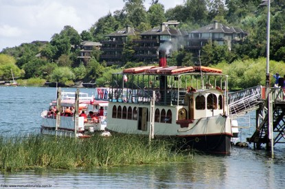 Vapor no Lago Villarica