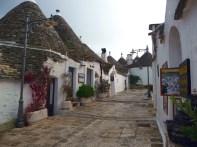 Rua de trulli em Alberobello