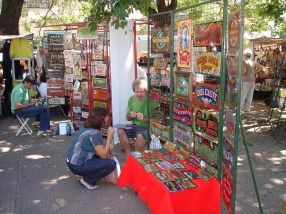 Feira artesanal em Buenos Aires, Argentina