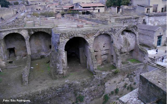 Ruínas romanas em Herculano, Itália