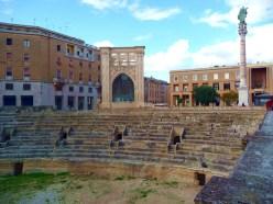 Lecce, ruínas de anfiteatro romano