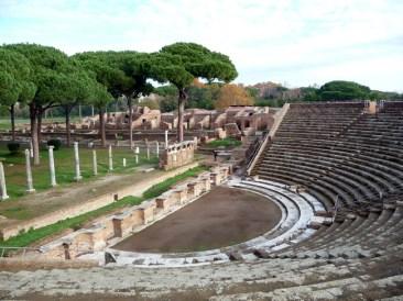 O anfiteatro de Ostia Antica
