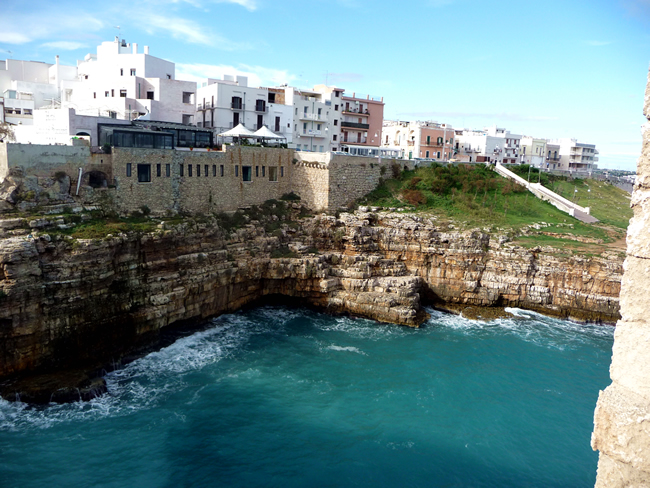 Polignano a Mare, na Puglia, Itália