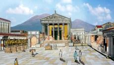 Reconstituição, como era Pompeia na época romana