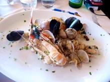 Culinária da Costa Amalfitana, frutos do mar em Positano