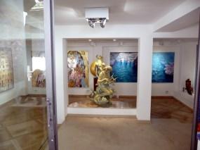 Exposição de arte em Positano