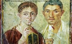 Afresco em uma casa de Pompeia
