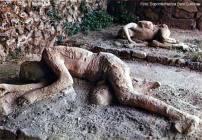 Pompéia, Itália, molde dos corpos encobertos pela lava