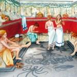 Reconstituição, termas de Caracala, em Roma