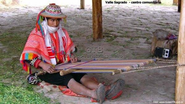 Tecelão no Valle Sagrado, Peru