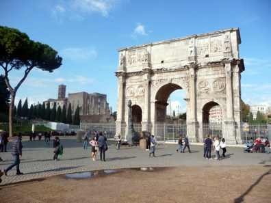 Roma, área arqueológica central, Arco de Constantino, Roma