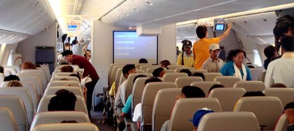 Interior de avião