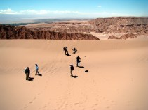 As dunas do Valle de la Muerte, Atacama, Chile