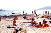 Espanha, praia de nudismo em Ibiza