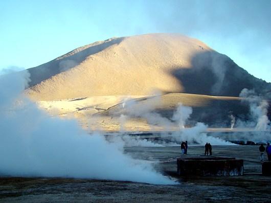 Gêiseres de El Taio, deserto do Atacama, no Chile