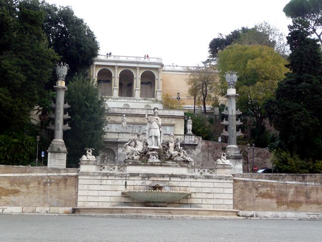 Piazza del Popolo, em Roma, Itália