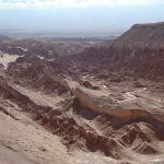 Valle de la Muerto, no deserto de Atacama, no Chile