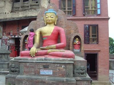 Estátua budista em Katmandu