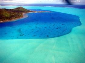 O colorido da laguna de Bora-Bora
