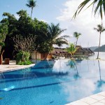 Piscina do resort Orient Express, em Bora Bora