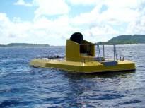 Submarino com interior envidraçado em Bora Bora, Tahiti
