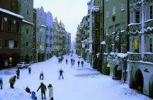 Centro histórico de Slaburgo no inverno