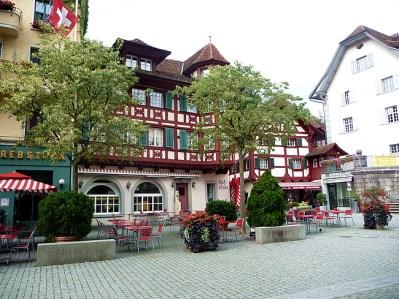 Construções no centro histórico der Lucerna