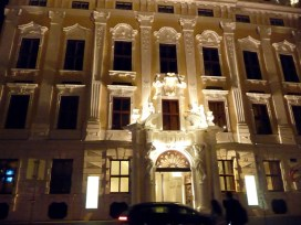 Edifício em Viena, à noite