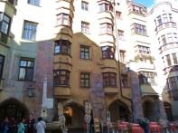 Edifícios no centro histórico de Innsbruck