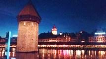 Lucerna, Torre de Água à noite, foto K. Parpinelli
