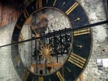 O famoso relógio da torre em Lucerna