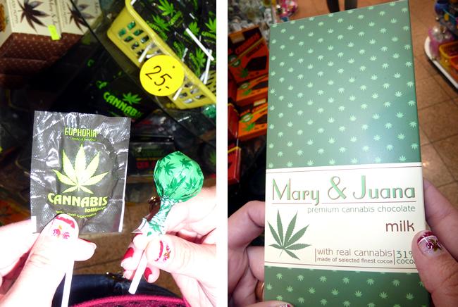 Pirulito e chocolate de marijuana