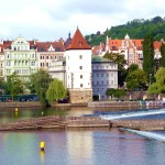 Rio Vltava junto a Malá Strana, Praga