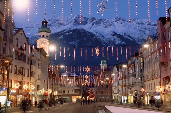 Centro histórico de Innsbruck, na Áustria