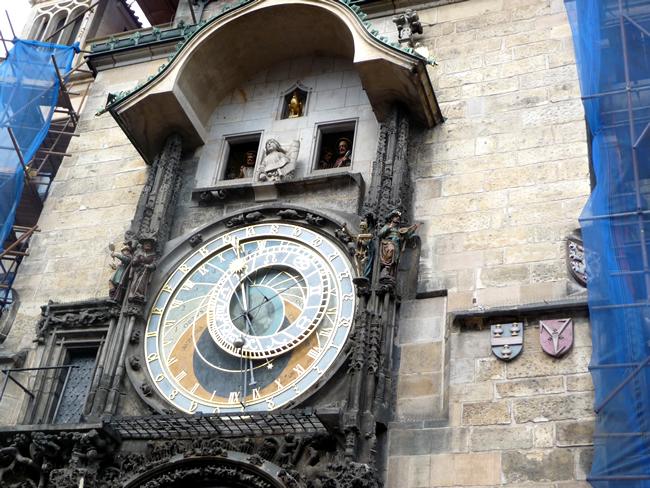 Torre do relógio na Cidade Velha, Praga