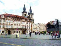 Arquitetura do centro histórico de Praga