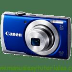 Canon PowerShot A2600 | Guía y manual de usuario en PDF español