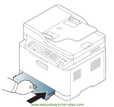 Cómo eliminar atasco de papel en la impresora Samsung Xpress SL-C460W. Atasco en la bandeja de papel 3