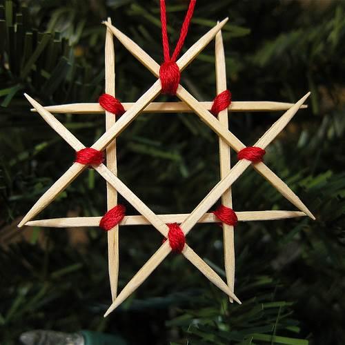 Estrella de palillos