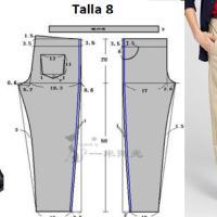Pantalon de vestir corte clasico para niños con patrones