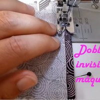 Dobladillo invisible a máquina