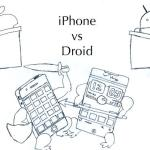 iPhone vs Droid Cartoon