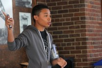 Julian Wright(12) speaks on how important it is to be a student at duPont Manual High School.