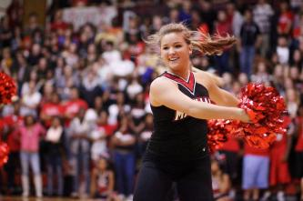 Erynn Landherr dances with the dance team.