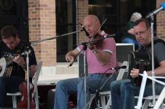 The band Brock McGuire plays a song for the people at Irish Fest. Several performers played at Irish Festival this past weekend.