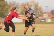 Danielle Dorsey (11) tries to stop Katie Long (12).