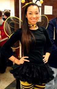 Whitney Campbell (11) poses for the camera dressed as a bumble bee. Photo by: Destony Curry