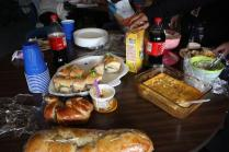 Newspaper's potluck of food, brought by each staff member on November 20th. Photo by Molly Loehr.