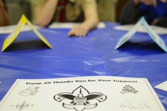 The room was filled with tables which were laid out to further the support for the troop. Photo by Jack Steele Mattingly