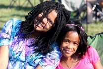 Sisters enjoy their first Reggae festival.